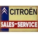 Citroen Sales Service vintage metal tin sign wall plaque