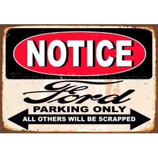 notice-ford-parking-only-metal-sign