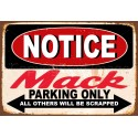Notice Mack Trucks Parking Only metal tin sign wall plaque