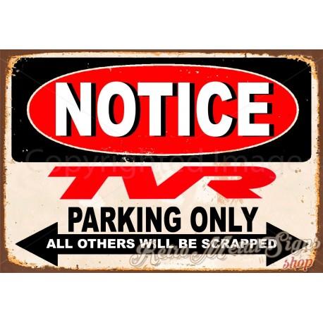 notice-man-trucks-parking-only-metal-tin-sign