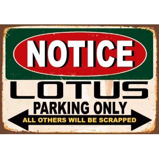 notice-lotus-parking-only-metal-tin-sign