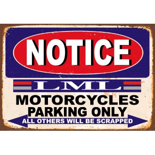 notice-lml-motorcycle-parking-only-metal-tin-sign