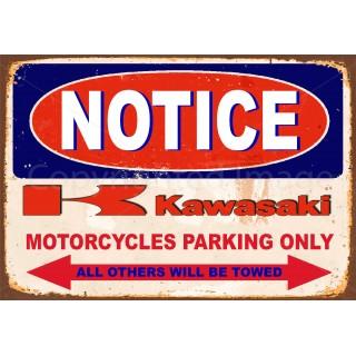 notice-kawasaki-motorcycle-parking-tin-sign