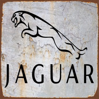 Jaguar cars metal tin signs