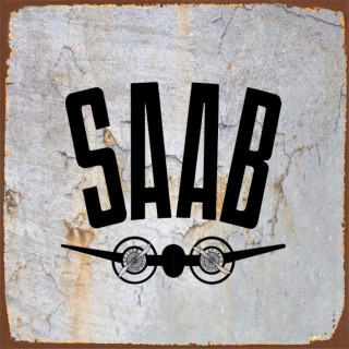 Saab cars metal tin signs