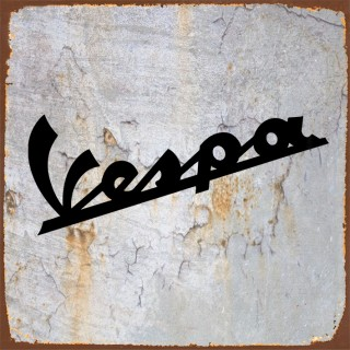 Vespa motorcycle metal tin signs