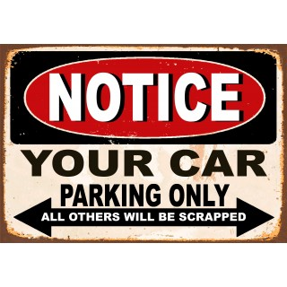 Car Parking funny  metal tin signs