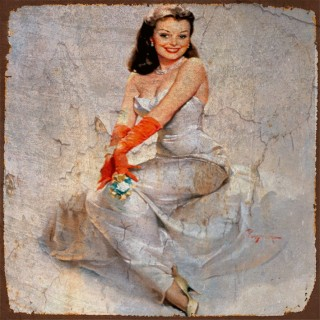 Gil Elvgren Pin Up models metal tin signs