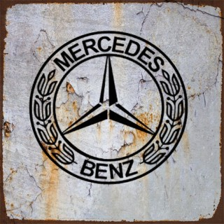 Mercedes cars metal tin signs
