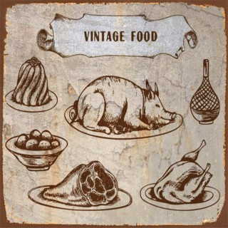 English  Food metal tin signs