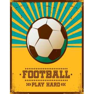 Football Tin Signs