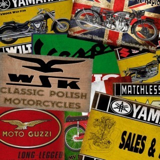Motorcycles garage  service metal tin signs