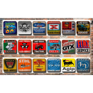 Car Garage Tin Sign Wall Clocks