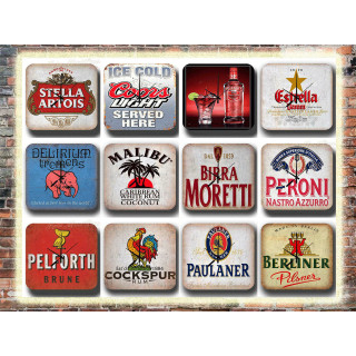 Pub Bar Tavern Restaurant Kitchen Man Cave Tin Sign Wall Clocks