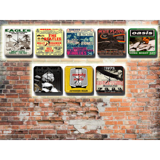 Music  Tin Sign Wall Clocks
