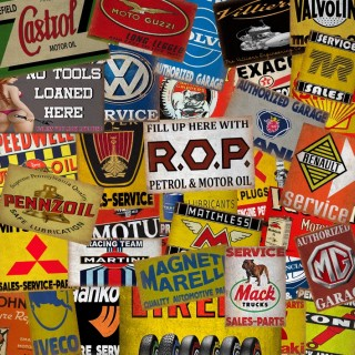 Garage service metal tin signs