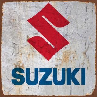 Suzuki motorcycle metal tin signs