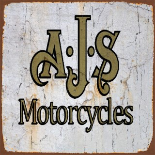 AJS motorcycle metal tin signs