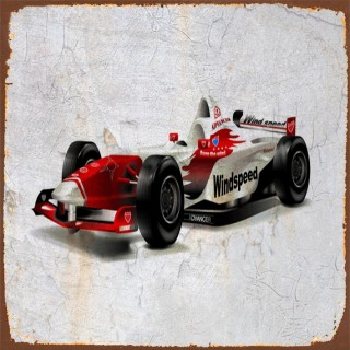 Car racing metal tin signs